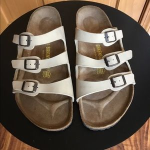 Birkenstock Tan 3 Strap Leather Sandals